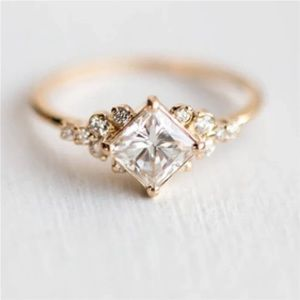 Gold plated dainty ring
